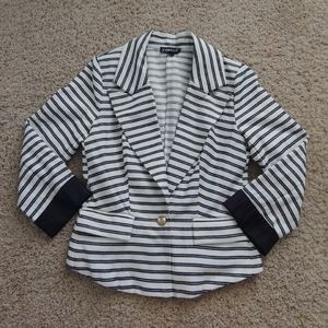 Rampage striped blazer